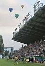 Zápas fotbalové Fortuna ligy mezi Bohemians Praha 1905 a FC FASTAVEM Zlín v Ďolíčku.