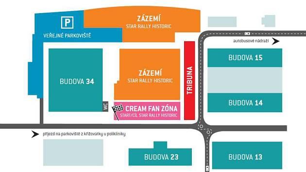 CREAM Safety a Fan zóna Barum Czech Rally Zlín.