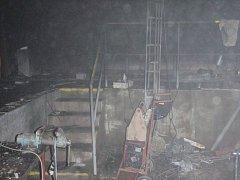 Hasiči likvidoval požár kotelny léčebného domu v Luhačovicích.