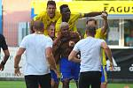 Fotbalisté Zlína (ve žlutých dresech) předvedli proti Mladé Boleslavi strhující obrat a v 1. kole FORTUNA:LIGY nakonec zvítězili 3:2.