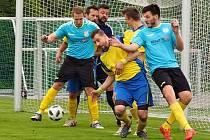 Fotbalisté Štípy ve 22. kole okresního přeboru Zlínska přestříleli Mladcovou B 4:3 a uhájili páté místo v tabulce