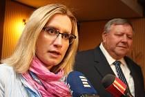 Karla Šlechtová ministryně pro místní rozvoj v hotelu Baltaci ve Zlíně.