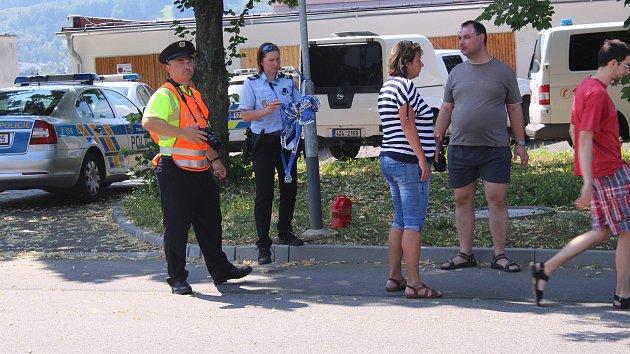 Prověřovací taktické cvičení zlínské policie a MP Zlín.