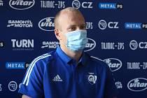 V úterý se uskutečnila tisková konference klubu PSG Berani Zlín před další extraligovou sezonu. Na snímku útočník Pavel Kubiš.