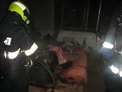 Požár rodinného domu v Malenovicích
