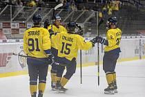 Hokejisté Zlína slaví první vítězství v letošním ročníku Tipsport extraligy.