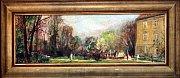 Výstava Zlínský kraj očima malíře Vladimíra Hrocha v krajské galerii výtvarného umění ve Zlíně.  Zámecký park 1945