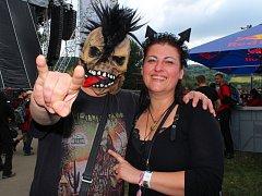 Masters of Rock si ve Vizovicích v těchto dnech užívá například Iveta Tesařová z Ostravy ze svým přítelem.