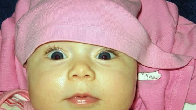 Ladunka Riesová, 17. 7. 2007, porodní míry: 3 kg, 48 cm, Zlín
