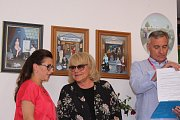 Vernisáž výstavy Ivy Hüttnerové ve Zlíně