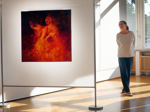 Výstava obrazů Taťány Havlíčkové v galerii Alternativa ve Zlíně.