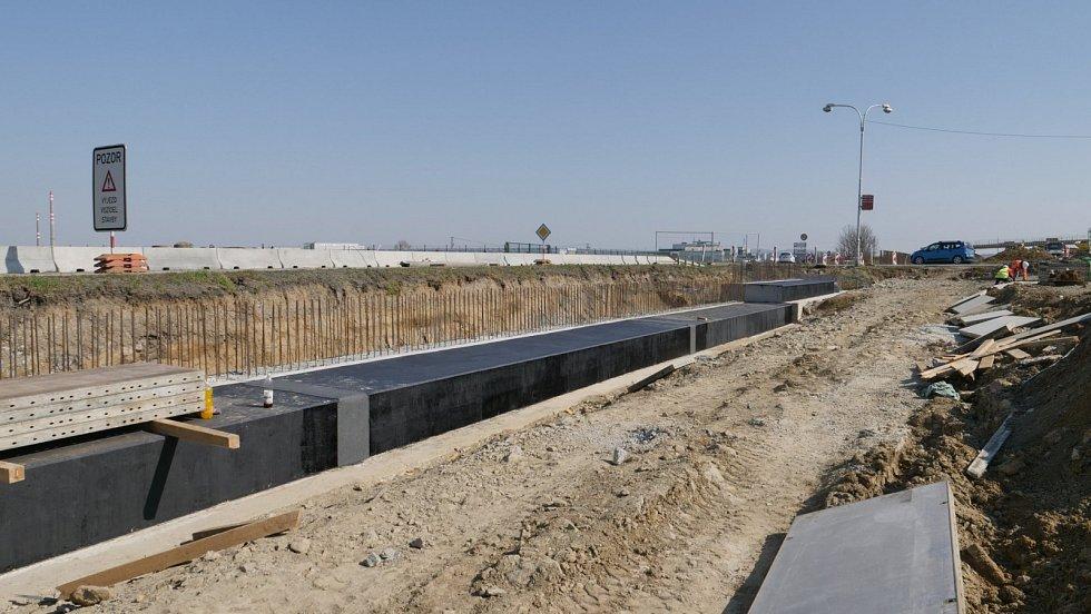 Stavba D55 Otrokovice, obchvat JV - jaro 2020