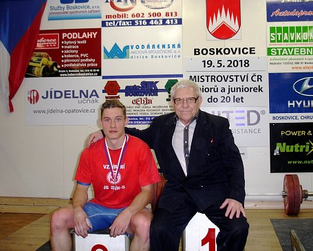 Pavel Jančík a trenér Jar. Janeba