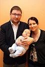 Vítání občánků 27.3. 2015.Petr a Lucie Janulíkovi se synem Tomášem.