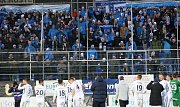 Oslava vítězství Slovácka v derby s fanoušky