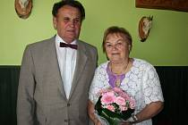 Zlatou svatbu oslavili ve Žlutavě Květoslava a Cyril Kašpárkovi