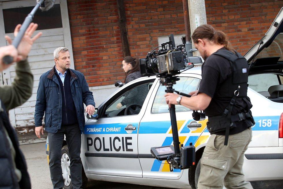Natáčení filmu Metanol ve Zlíně.