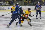 Hokejisté Zlína (v modrých dresech) se v úvodním zápase Tipsport extraligy 2021/2022 utkali s Litvínovem.