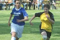 Fotbalistky Bohuslavic (ve žlutém) se před nadcházející sezonou v moravskosleszké divizi žen přestěhovaly do Březůvek.