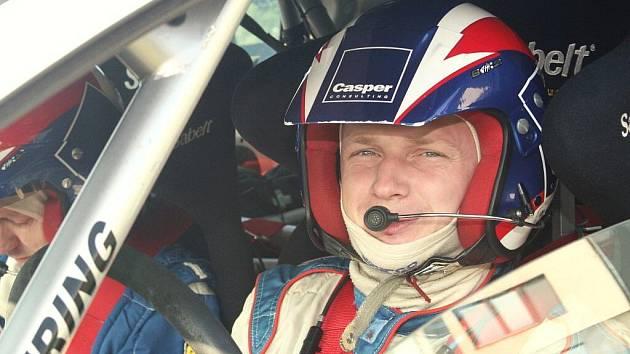 Rallyový jezdec Jaromír Tarabus.