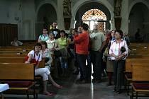 V Kostele sv. Filipa a Jakuba se konaly prohlídky.