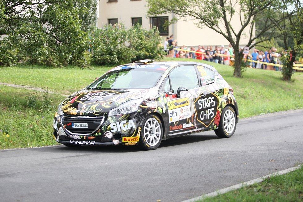 V rámci 49. ročníku Barum Czech Rally Zlín absolvovali v sobotu dopoledne jezdci rychlostní zkoušku Březová. Na snímku Adam Březík