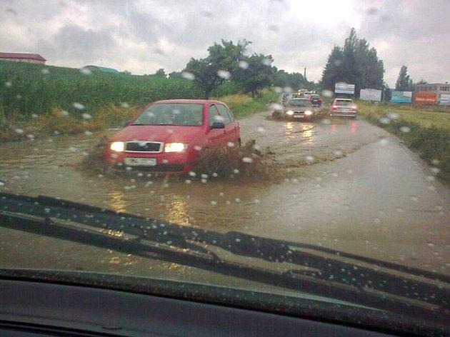 Přívalové deště na Zlínsku
