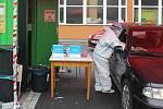 Odběrové místo pro testy na koronavirus v KNTB Zlín