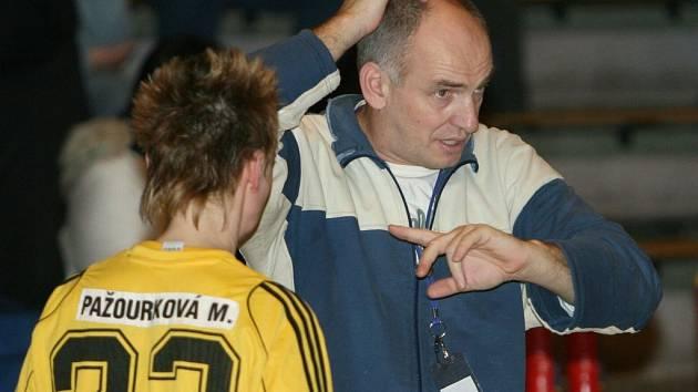 Trenér zlínských házenkářek Milan Buday