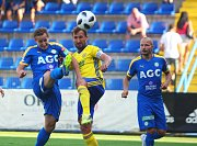 Fotbalisté Zlína (ve žlutých dresech) v 5. kole FORTUNA:LIGY hostili Teplice.