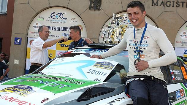 Barum Czech rally Zlín 2016. 2. místo Tomáš Kostka