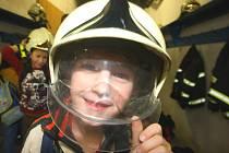 Exkurze u zlínských hasičů pro žáky ze Základní školy Křiby