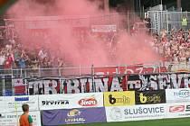 Fanoušci při zářijovém utkání Fastav Zlín - Slavia Praha
