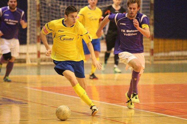 Druholigoví futsalisté UTB Zlín (ve žlutém). Ilustrační foto