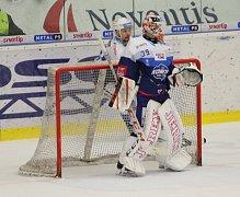 Extraligoví hokejisté Zlína (vš žlutém) v nedělním 26. kole doma hostili mistrovskou Kometu Brno. Na snímku Libor Kašík