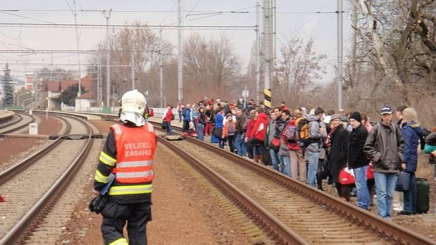 Tragická nehoda na železnici v Napajedlích