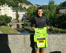 Ondřej Fejfar na Karlovarském půlmaratonu 2018