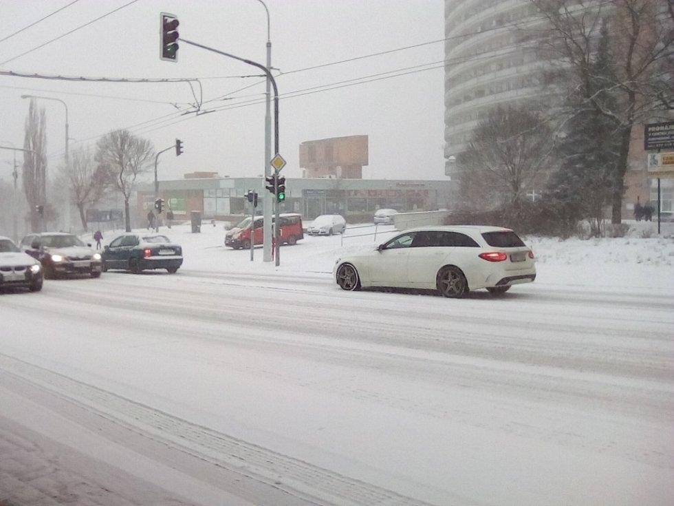 Dopravní situace ve Zlíně 16. 1. 2018