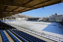 Fotbalový stadion ve Zlíně.