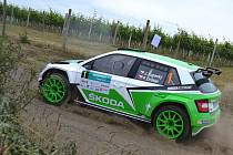 Vítězná posádka Rally Hustopeče 2015 Jan Kopecký - Pavel Dresler
