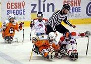 Sledgehokej finále Zlín – Pardubice