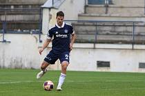 Fotbalista Zlína Lukáš Vraštil při čtvrtečním pohárovém zápase s Vyškovem.