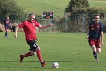 Fotbalisté Štípy (tmavé dresy) vs. Příluky 6:0