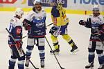 Extraligoví hokejisté Zlína (vš žlutém) v nedělním 26. kole doma hostili mistrovskou Kometu Brno. Na snímku Mueller, střelec 4. gólu
