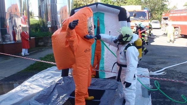 Cvičení v Bystřici pod Hostýnem se zúčastnilo 5 jednotek hasičů