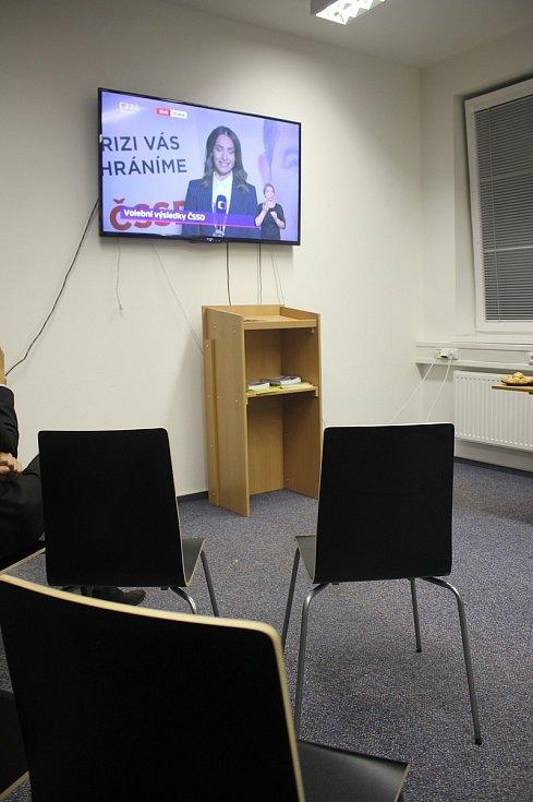 Volební štáb KDU-ČSL ve Zlíně.