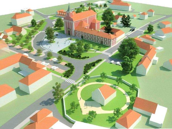 Vizualizace náměstí ve Štípě
