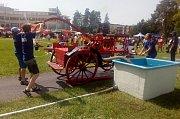 Sedmý ročník celorepublikového setkání a soutěže parních stříkaček v Otrokovicích