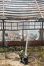 Požár v areálu TOMA.