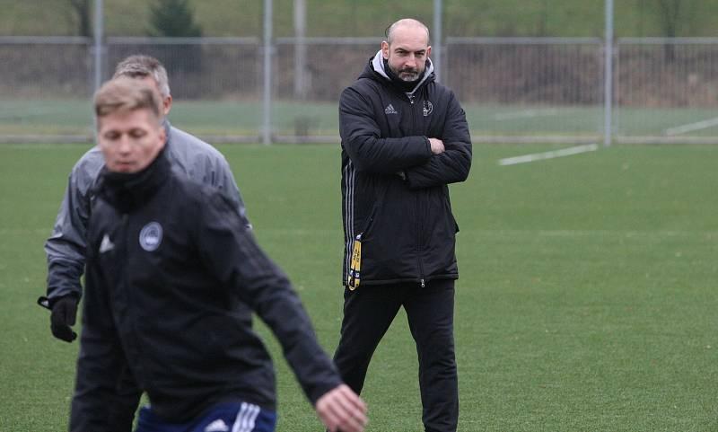 Fotbalisté Zlína po krátké vánoční přestávce v pondělí  zahájili specifickou dvoutýdenní zimní přípravu. Na snímku je kustod Patrik Hučko.